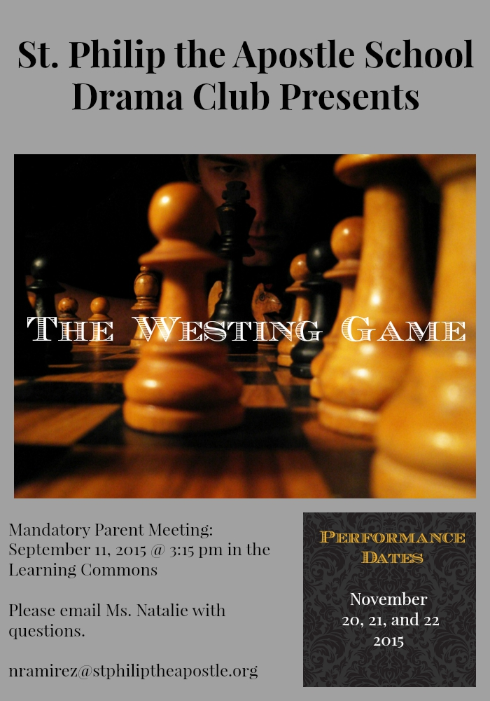 Westing Game Parent Meeting